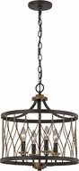 Trans Globe 70696-ROB Tahoe Modern Rubbed Oil Bronze Drum Ceiling Pendant Light