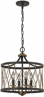 Trans Globe 70696-ROB Tahoe Modern Rubbed Oil Bronze Ceiling Pendant Light