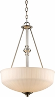 Trans Globe 70729-1-BN Cahill Modern Brushed Nickel Drop Lighting Fixture