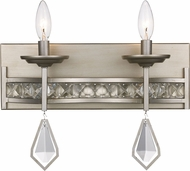 Trans Globe 70772-ASL Eli Antique Silver Leaf 2-Light Bathroom Light Sconce