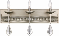 Trans Globe 70773-ASL Eli Antique Silver Leaf 3-Light Bathroom Lighting Sconce