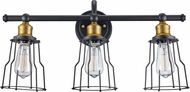 Trans Globe 70813-ROB Constitution Modern Rubbed Oil Bronze 3-Light Bathroom Wall Light Fixture