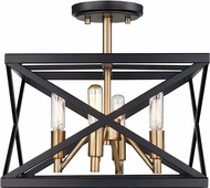 Trans Globe 71054-ROB-AB Contemporary Rubbed Oil Bronze / Antique Brass Ceiling Light Fixture