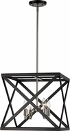 Trans Globe 71056-BK-BN Crosswinds Contemporary Black/Brushed Nickel Hanging Lamp