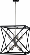 Trans Globe 71058-BK-BN Modern Black / Brushed Nickel Entryway Light Fixture