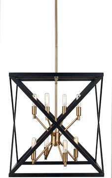 Trans Globe 71058-ROB-AB Ackerman Contemporary Rubbed Oil Bronze / Antique Brass Foyer Lighting