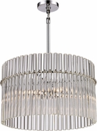 Trans Globe 71094-PC Contemporary Polished Chrome 20 Drum Hanging Light Fixture