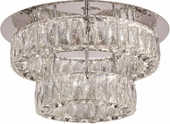 Trans Globe 71154-PC Polished Chrome LED 17.75  Flush Mount Lighting