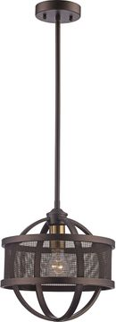 Trans Globe 71351-ROB-AG Crosswinds Contemporary Rubbed Oil Bronze / Antique Gold Mini Lighting Pendant