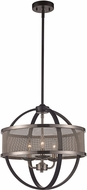 Trans Globe 71353-BK-BN Crosswinds Contemporary Black/Brushed Nickel 17.5  Overhead Lighting