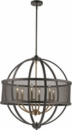 Trans Globe 71356-ROB-AG Crosswinds Modern Rubbed Oil Bronze/Antique Gold 27  Flush Ceiling Light Fixture