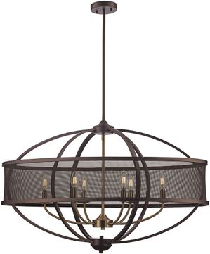 Trans Globe 71357-ROB-AG Crosswinds Contemporary Rubbed Oil Bronze/Antique Gold 36 Home Ceiling Lighting