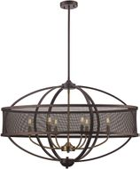 Trans Globe 71357-ROB-AG Crosswinds Contemporary Rubbed Oil Bronze / Antique Gold 15  Hanging Pendant Lighting