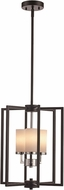 Trans Globe 71363-BK-PC Transformation Modern Black / Polished Chrome 13.5  Foyer Lighting Fixture