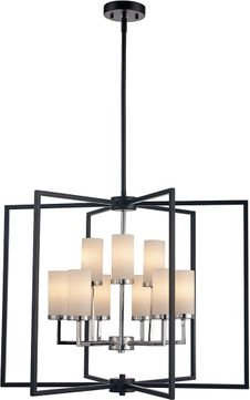 Trans Globe 71369-BK-PC Contemporary Black/Polished Chrome 27  Entryway Light Fixture