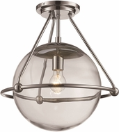 Trans Globe 71385-PC Riviera Contemporary Polished Chrome Flush Ceiling Light Fixture