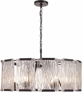 Trans Globe 71456-BK Crosswinds Modern Black 26  Drop Ceiling Lighting