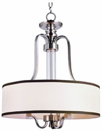 Trans Globe 7974-BN Montclair Brushed Nickel Drum Drop Lighting Fixture