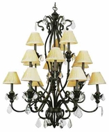 Trans Globe 8277 Crystal Flair 15-light Antique Chandelier