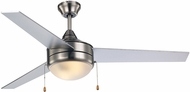 Trans Globe F-1008-1-BN-SIL Cappleman Brushed Nickel + Silver Ceiling Fan