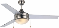 Trans Globe F-1008-1-BN-SIL Cappleman Modern Brushed Nickel / Silver Fluorescent Home Ceiling Fan