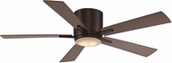 Trans Globe F-1017-ROB Contemporary Rubbed Oil Bronze LED Ceiling Fan Light Fixture