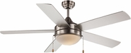 Trans Globe F-1020-BN Contemporary Brushed Nickel Home Ceiling Fan
