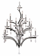 Trans Globe HB-15 PC Extra Large Modern 35 Inch Diameter Hanging Chandelier - 15 Candles