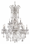 Trans Globe HL-12 PC Extra Large 12 Candle 42 Inch Tall Dining Room Chandelier - Polished Chrome