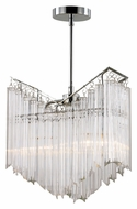Trans Globe HP-2 PC Small 2 Lamp Polished Chrome Crystal Chandelier Lighting