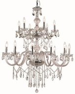 Trans Globe HU-18-PC Zircon Traditional Polished Chrome Chandelier Lamp