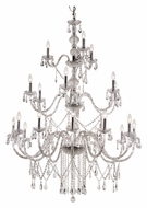 Trans Globe HU-21 PC Extra Large 59 Inch Tall 3 Tier Candle Chandelier Lighting
