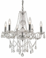 Trans Globe HU-6-PC Zircon Traditional Polished Chrome Ceiling Chandelier