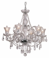 Trans Globe HX-6 PC Crystal Candle 22 Inch Diameter Hanging Chandelier