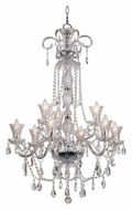 Trans Globe HX-9 PC Polished Chrome 9 Candle Dining Room Chandelier