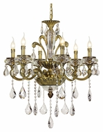 Trans Globe JD-6 AB Small 27 Inch Diameter Antique Brass Chandelier - 6 Candles