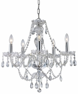 Trans Globe KG-5-PC Alexandria Traditional Polished Chrome Mini Chandelier Lighting