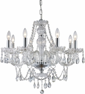 Trans Globe KG-8-PC Alexandria Traditional Polished Chrome Lighting Chandelier