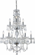 Trans Globe KG-9-PC Alexandria Traditional Polished Chrome Chandelier Lamp
