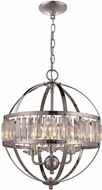 Trans Globe KR-3-PC Crystal Globe Contemporary Polished Chrome 16  Ceiling Pendant Light