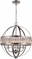 Trans Globe KR-4-PC Crystal Globe Contemporary Polished Chrome 20  Drop Ceiling Light Fixture