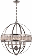 Trans Globe KR-5-PC Crystal Globe Modern Polished Chrome 24  Drop Lighting Fixture