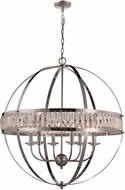Trans Globe KR-6-PC Crystal Globe Contemporary Polished Chrome 30  Pendant Lighting
