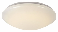 Trans Globe LED-10171 WH Medium 14 Inch Diameter LED Flush Lighting