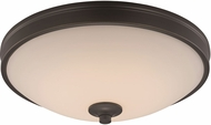 Trans Globe LED-30080-ROB Rubbed Oil Bronze LED 13  Flush Lighting
