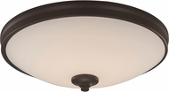 Trans Globe LED-30081-ROB Rubbed Oil Bronze LED 15  Flush Mount Light Fixture