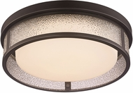 Trans Globe LED-30085-ROB Modern Rubbed Oil Bronze LED 15  Ceiling Lighting Fixture
