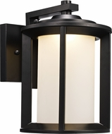 Trans Globe LED-40820-BK Brava Modern Black LED Exterior Wall Light Sconce