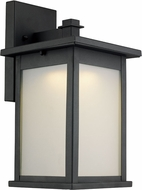 Trans Globe LED-40911-BK Laurel Contemporary Black LED Outdoor Wall Lamp