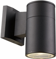 Trans Globe LED-50020-BK Compact Modern Black LED Exterior Wall Sconce Light
